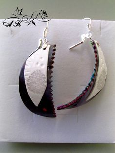 Handmade earrings made from polymer clay with a high gloss finish.