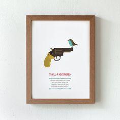 Illustration. To kill a mockingbird. Print. Poster