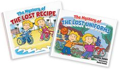 Two great books for elementary kids - The Mystery of the Lost Recipe & The Mystery of the Lost Uniforms - buy them today