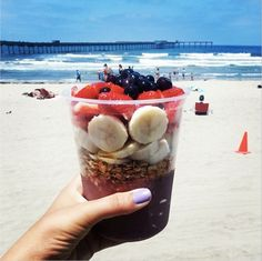Beachside Bowl: Granola, fresh fruit, sand and surf—we don't need any more convincing