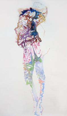 Cate Parr Watercolour Fashion Illustration - Coutureink 6 - Givenchy