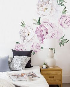 Springtime is peak season for peonies, but keep them blooming all year-long with our Peony Flowers Wall Sticker. The contemporary design and color palette of this wall sticker complements modern spaces and updates more traditional decor. This Wall Sticker makes a bold and elegant statement alone, but can also refresh an accent wall or add a bright wash of color to an existing collection of art and photographs Vintage Lilac