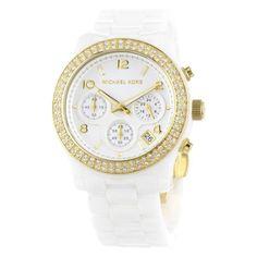 Michael Kors MICHAEL KORS CERAMIC LADY CHRONOGRAPH Elegant Watches, Michael Kors Watch, Gold Watch, Chronograph, Bracelet Watch, Bling, Ceramics, Lady, Accessories