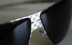 Tattoo Sunglasses: You can order one of several tattoos designs by Slav Nowosad. Also, your own pattern will be made especially for you.
