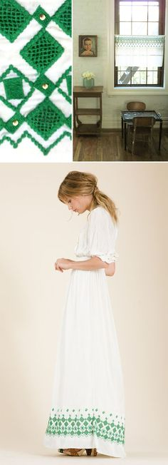 greenwork on the bottom is so pretty. it was her wedding dress! SWOON.