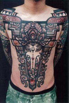 Cool detail and use of neg space, but still very clear http://www.genko-tattoo.com/, hermoso tattoo.