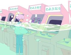 pastel, anime, boy, soft, japan, video game, water, white, pink, bunny, rabbit,  and art image
