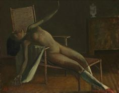 Balthus, I love the positing of the body