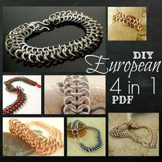 This chainmaille weave is very forgiving, but I have found it looks nicest in these sizes:  Petite: 20 gauge 3mm ID  Standard: 18 gauge 3.75mm ID  Grand: 16 gauge 4.5mm ID