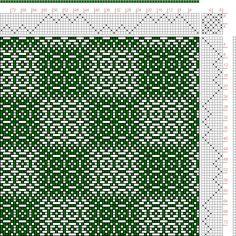 Hand Weaving Draft: Threading Draft from Divisional Profile, Tieup: Baldwins Textile Designer Vol. 1 No. 7 July, 1888, Draft #53946, Threading: Weber Kunst und Bild Buch, Marx Ziegler, (1677) # 17, Treadling: Weber Kunst und Bild Buch, Marx Ziegler, (1677) # 17, 8S, 8T - Handweaving.net Hand Weaving and Draft Archive