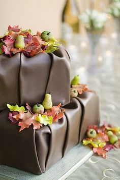 Cute chocolate fondant cake