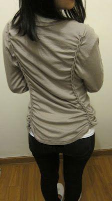 yo elijo coser: DIY: ideas para mangas demasiado largas o camisetas anchas