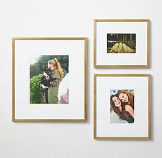 RH TEEN& Metal Gallery Frame - Brass:Setting the scene. Expertly crafted of metal for a modern sensibility, our gallery frames provide the perfect backdrop for a wallscape of photos and artwork. Gallery Frame Set, Gallery Wall Frames, Art Wall Kids, Wall Art, Wall Decor, Rh Teen, Canopy Bedroom, Teen Room Decor