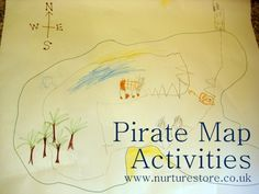 fabulous ideas for pirate activities, pirate crafts and pirate party ideas Pirate Activities, Social Studies Activities, Craft Activities For Kids, Literacy Activities, Preschool Ideas, Kids Crafts, Teaching Ideas, Pirate Maps, Pirate Theme
