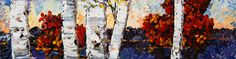 """Fall Birches"" Birches, Create Words, Maya, North America, Scene, Landscape, Painting, Scenery, Painting Art"