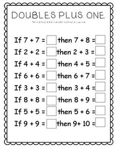 7 Near Doubles Worksheet Doubles Plus Worksheets √ Near Doubles Worksheet . 7 Near Doubles Worksheet. Number Strings Worksheets and Game First Grade Math Worksheets, Second Grade Math, Kindergarten Worksheets, Year 2 Worksheets, Tracing Worksheets, Preschool Kindergarten, Grade 1, Math Doubles, Teaching