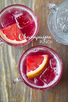 Easy and delicious New Years Eve Champagne Punch! This amazing champagne punch only has 5 ingredients, but tastes like a dream. So bright, sweet and bubbly