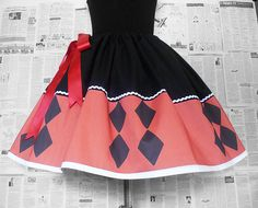 Cool Harley Quinn Full sexy skirts to wear as Cosplay..or..well whenever!    **ON SALE AND SHIPPED WITHIN 14 DAYS**    **PUFF IT OUT WITH A RED AND