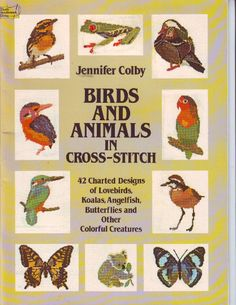 Birds and Animals Dover Needlework Counted Cross Stitch Leaflet From 1983 by XtraThings on Etsy