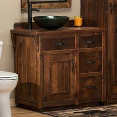 This rustic barn wood bathroom vanity is made from year old barns. Our Reclaimed Barn Wood Vanity collection is made in the USA and ships out quickly. Barnwood Bathroom Vanity, Bathroom Niche, Bathroom Vanity Makeover, Bathroom Red, Bathroom Ideas, Vanity Bathroom, Pallet Bathroom, Master Bathroom, Modern White Bathroom