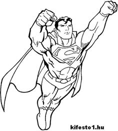 The Superman character was created in 1932 (as Batman), but appeared in Comics 6 years later. Unlike most superheroes, Superman is not Terran … He's an alien ! Superman through . Superman Coloring Pages, Spiderman Coloring, Marvel Coloring, Boy Coloring, Coloring Pages For Boys, Coloring Pages To Print, Free Printable Coloring Pages, Free Coloring Pages, Coloring Books