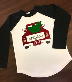 Layering Strip Flock with Silhouette and a Giveaway! - Holiday Shirts - Ideas of Holiday Shirts - DIY Christmas Shirt using Silhouette Cutting Machine and Strip Flock Heat Transfer Vinyl (HTV) shirt and Enter to Win Mini Heat Press Christmas Monogram Shirt, Christmas T Shirt Design, Christmas Shirts For Kids, Christmas Vinyl, Xmas Shirts, Monogram Shirts, Vinyl Shirts, Family Shirts, Christmas Gifts