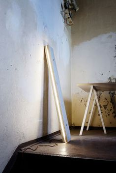 Plank LED / Wandleuchte & Stehlampe - L 120 cm   Northern   Wandleuchte mit Stromkabel