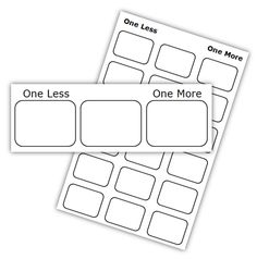 1000+ images about One more and one less on Pinterest | Number ...Math Coach's Corner: One More and One Less Freebie! Students practice the tricky skill