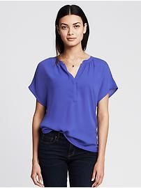 Banded Popover Blouse