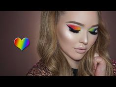 OFFICIAL DONATION PAGE FOR THE ORLANDO VICTIMS: https://www.gofundme.com/2942a444 Today I'll be showing you how to create this RAINBOW makeup look to celebra...