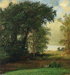 Rives de la rivière de Jasper Francis Cropsey (1823-1900, United States)