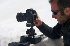 SmartSLIDER PRO on the rocks. Perfect in every environment. Even with the Snow! Learn more on www.smartsystem.it and find the right DSLR camera slider for your needs.