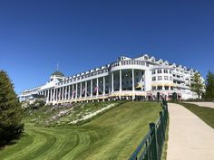 My Trip to the Grand Hotel on Mackinac Island Somewhere In Time, Hotel Staff, Mackinac Island, Great Places, Amazing Places, Grand Hotel, The Hamptons, The Good Place, Michigan