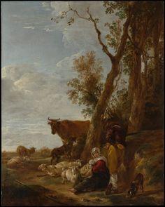 Rest by Nicolaes Berchem via European Paintings  Medium: Oil on wood Purchase, 1871 Metropolitan Museum of Art, New York, NY