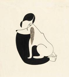 """Christina Malman, """"Woman and a Dog"""", 1935"""