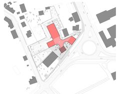 Image 10 of 16 from gallery of Library Building in Bauska Winning Proposal / A2SM Architects. site plan