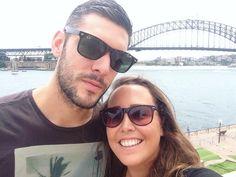 Sydney Harbour Bridge Selfie! #sydney #sydneyharbourbridge #australia #travelling #tourists #backpacking #couple #love #selfie by aroundtheworldin80naps http://ift.tt/1NRMbNv