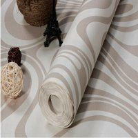 QIHANG Modern Luxury Abstract Curve 3d Wallpaper Roll Mural Papel De Parede Flocking for Striped Cream-white&silver Color 0.7m*8.4m=5.88SQM