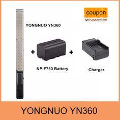YONGNUO YN360 Handheld LED Video Light 3200k 5500k RGB Colorful 39.5CM   BATTERY   Charger