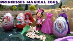 Disney Frozen Princess Magiclip Barbie Mermaid Play Doh Surprise Eggs Mi...