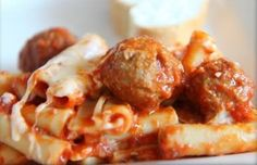 Meatballs  !!!  Baked Ziti with Meatballs  http://www.amazon.com/Sunday-Sauce-When-Italian-Americans-Cook/dp/1490991026  #MEATBALLS