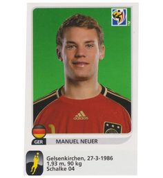 Panini WM 2010 Manuel Neuer Update Sticker, Stickerpoint