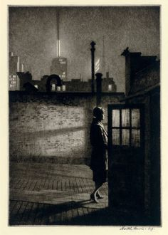Martin Lewis , Moonlight Etchings of the Forgotten Artist who Taught Edward Hopper Rockwell Kent, Norman Rockwell, Edward Hopper, Luxor, Avant Garde Artists, Urban Life, Dance Pictures, Art Market, American Artists