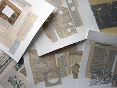 Printing with Gell Arts®: Something Borrowed - remember to make these collages in advance to use with gelli plate