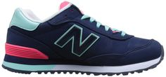 New Balance Women's WL515 Pop Tropical Pack Running Shoe, Teal/Purple/Pink, 7.5 B US