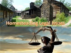 What are the legal issues you need to consider when homesteading? 7P's Blog has the answers