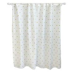 Instantly update your bathroom with the Pillowfort Metallic Dot Shower Curtain in White. Sturdy construction and an eye-catching pattern will provide a lasting, stylish look, and the buttonhole top makes this shower curtain quick and easy to hang.