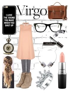 """Virgo fashion ❤️"" by the-northern-lights-shine ❤ liked on Polyvore featuring Pink Tartan, Yumi, MAC Cosmetics, Casetify, Muse, Bobbi Brown Cosmetics, The Cambridge Satchel Company, fashionhoroscope and stylehoroscope"