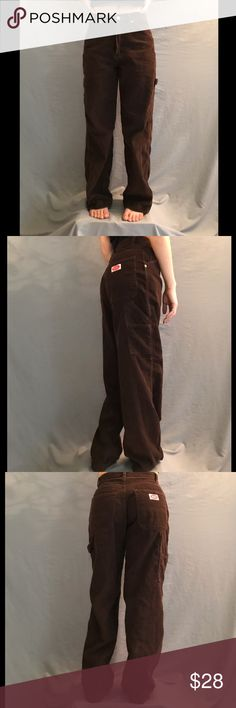 "90s Corduroy Pant ""The Shaggy"" Old school revolt clothing co Super cute baggy pant  A burgundy brown Pants Boot Cut & Flare"