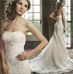 AN1616 White Mermaid Lace Bridal Wedding Dress Evening Party Prom Gown Ball Dress: Amazon.co.uk: Clothing
